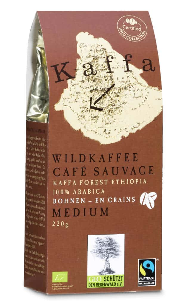 Kaffa Medium Bohnen 220g Bio/FT