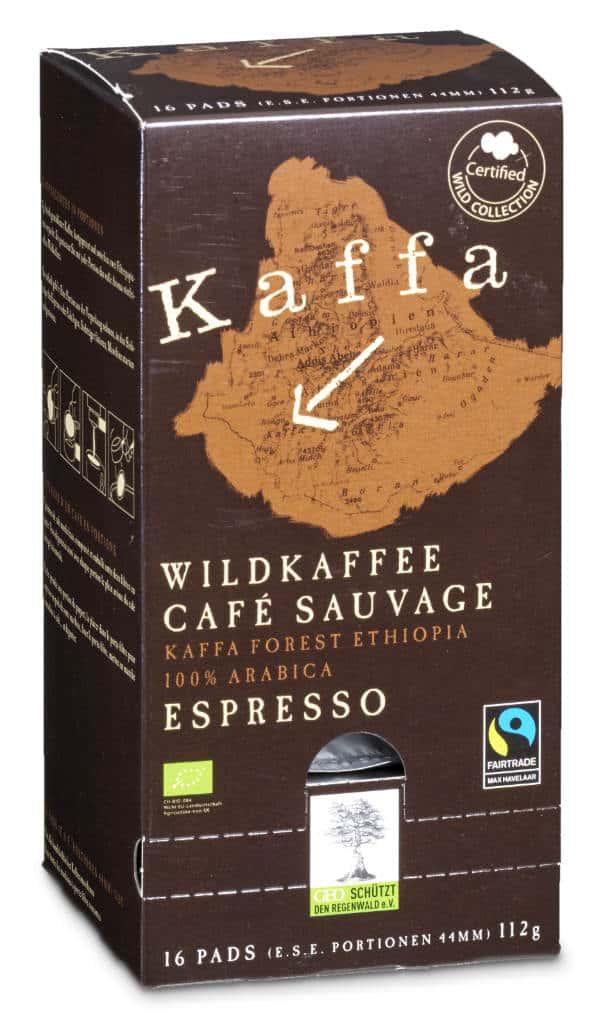 Kaffa Espresso Pads 16 Portionen Bio/FT