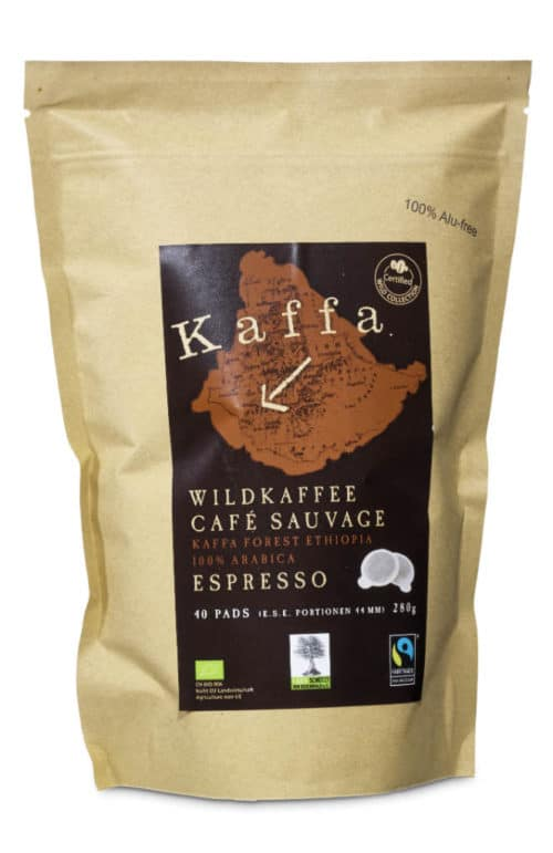 Kaffa Espresso Pads 40 portions en vrac bio/FT