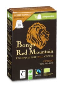 Bonga Red Mountain Espresso 10 Kapseln Bio/FT