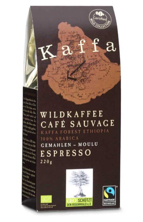 Kaffa Espresso moulu 220g bio/FT