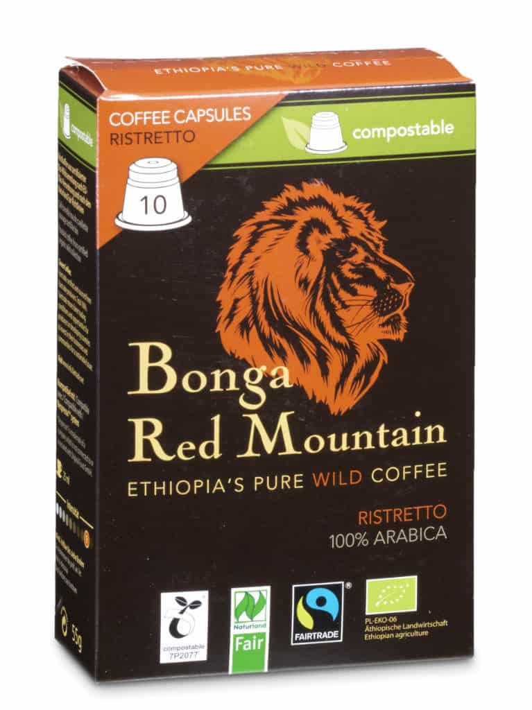 Bonga Red Mountain Ristretto 10 Kapseln Bio/FT