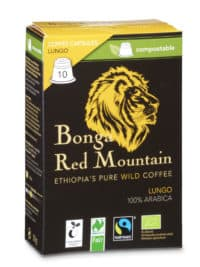 Bonga Red Mountain Lungo 10 Kapseln Bio/FT