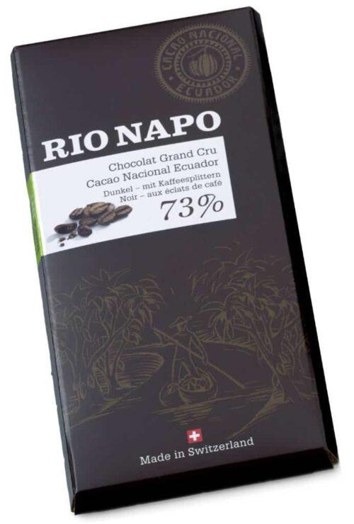 Rio Napo Grand Cru 73% aux éclats de café 70g bio