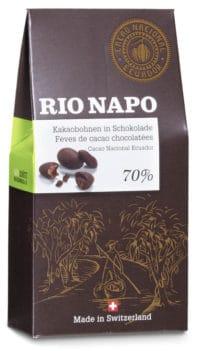 Rio Napo Kakaobohnen in Schokolade 70% Bio
