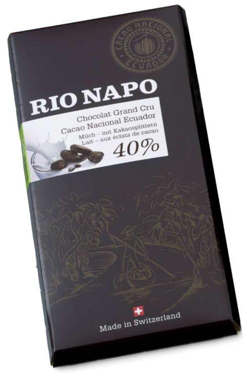 Rio Napo Grand Cru 40% mit Kakaosplittern 70g Bio