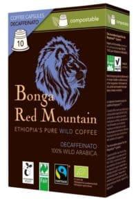 Bonga Red Mountain Decaffeinato 10 Kapseln Bio/FT