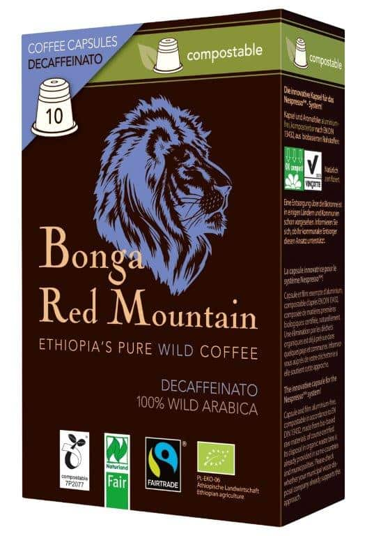 Bonga Red Mountain Decaffeinato 10 Kapseln Bio/FT