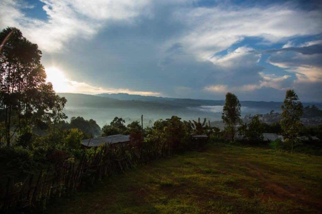 Gewitterstimmung über Bonga der Hauptstadt der Provinz Kaffa