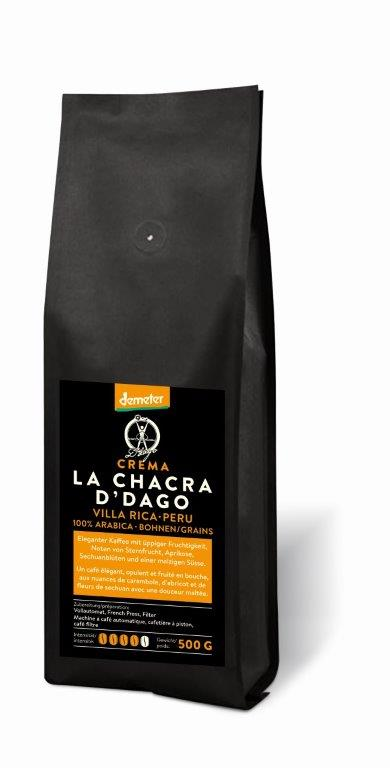 La Chacra d'Dago    Crema Bohnen 500g   Demeter-zertifiziert