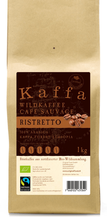 Kaffa Ristretto grains 1kg bio/FT