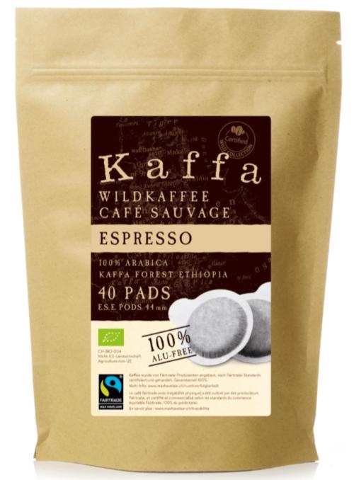 Kaffa Espresso Pads 40 Portionen lose Bio/FT